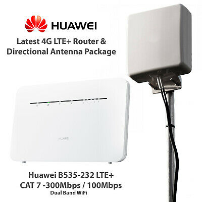 Huawei B535 4G Router & Directional 5G External Antenna Rural Broadband Booster • 279.99£