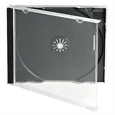 50 X CD / DVD Jewel 10.4mm Cases For 1 Disc With Black Tray - Pack Of 50  • 13.43£