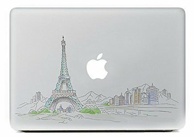 Macbook 13 Inch Decal Sticker Eiffel Tower And Apple Art For Apple Laptop • 8.80£