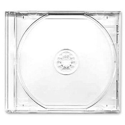 50 X CD / DVD Jewel 10.4mm Cases For 1 Disc With Clear Tray - Pack Of 50  • 14.96£