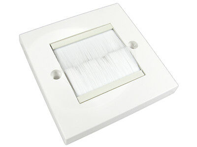 Single Gang White Surround With White Brush FacePlate • 3.29£