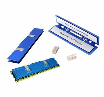 Aluminum Heat Spreader For SDR DDR RAM Memory Heatsink - UK Seller • 3.71£