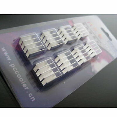Aluminum Memory Cooler Heat Sink For DDR DDR2 DDR3 RAM - UK SELLER • 5.30£
