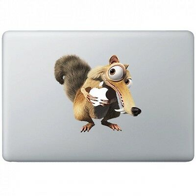Iceage Squirrel With Apple Macbook Air/Pro 11  Removable Vinyl Sticker  • 6.16£