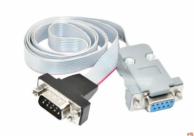 50cm Serial Port Ribbon DB9 9 Pin Male To Female Panel Mount Internal Cable • 4.50£