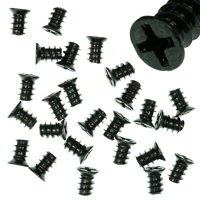 Pack Of 25 5x8mm Black PC Fan Screws - Computer Case Chassis 80mm/120mm • 2.29£