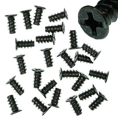 Pack Of 25 5x10mm Black PC Fan Screws - Computer Case Chassis 80mm/120mm • 2.39£