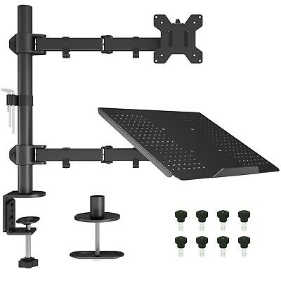 "Laptop Notebook Stand Monitor Arm Desk C-Clamp Mount Fully Adjustable 13""-27"" • 34.70£"