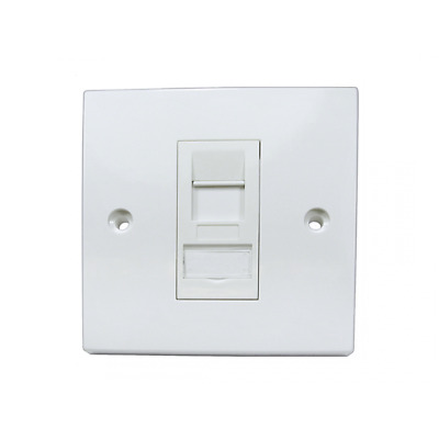 Ethernet Cat6A Wall Socket For Single Internet RJ45 Cable Faceplate 1 Gang • 5.30£