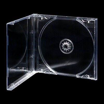 100 CD JEWEL CASES COMPLETE WITH CLEAR TRAYS / GRADE A - 10.4 Mm SPINE - NEW • 24.89£