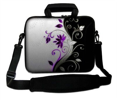 LUXBURG 13  Inches Design Laptop Sleeve With Shoulder Strap & Handle #CY • 14.90£