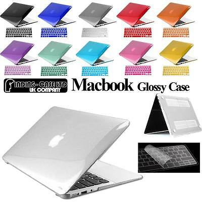 Glossy Clear Case Cover + Keyboard Skin For Apple MacBook Air Pro 11 13 15 Inch • 7.99£