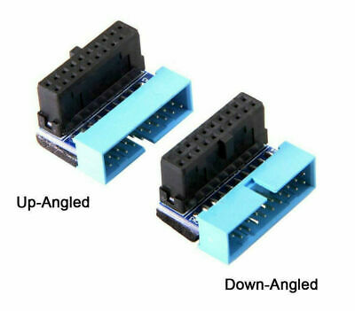 USB 3.0 20 Pin Male To Female Extension Adapter Angled 90 Degree For Motherboard • 3.90£