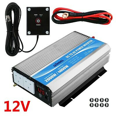 GIANDEL 2000W/4000W Power Inverter DC12V To AC240V Converter With USB Port • 128.96£
