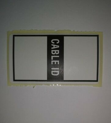 X50 Self Adhesive Cable ID Stickers Labels • 1.99£