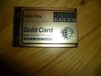 Pre Owned 56K + Fax Psion Dacom Gold Card Multi-Function PC Card GSM & ISDN • 20£
