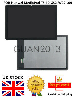 GO FOR Huawei MediaPad T5 10 GS2-W09 GS2-L09 LCD TOUCH SCREEN DIGITIZER WIFI VER • 42.50£