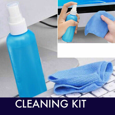 LCD Laptop Computer Notebook TV Mobile Phone Screen Cleaning Kit Cleaner • 5.99£