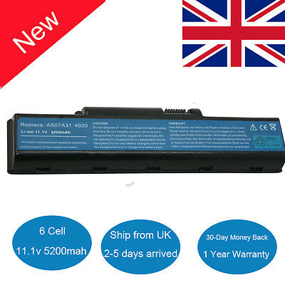 Laptop Battery For Acer Aspire 5300 5338 5542 5735 5738Z 5738G AS07A31 AS07A41 • 19.99£
