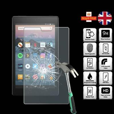For Amazon Fire HD 8 (2018) Alexa - Tablet Tempered Glass Screen Protector Cover • 4.99£