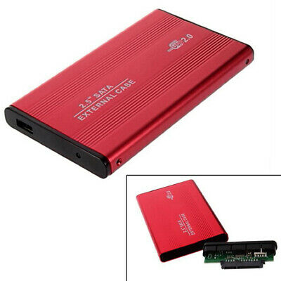 2.5 Inch USB 2.0 SATA External Mobile Hard Disk Box Aluminum Alloy Shell • 5.32£