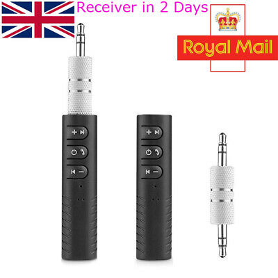 Bluetooth 4.1 Receiver 3.5mm AUX Audio Adapter For Car Speaker Handfree Home • 4.35£