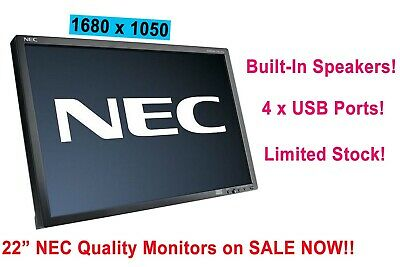 Cheap 22  INCH Widescreen LED LCD Monitor 1680 X 1050 No Stand • 29.99£