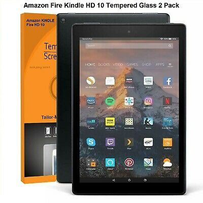 Tempered Glass Protector For Amazon Fire HD 10 9th Gen (2019) 10.1   **2 Pack** • 5.99£