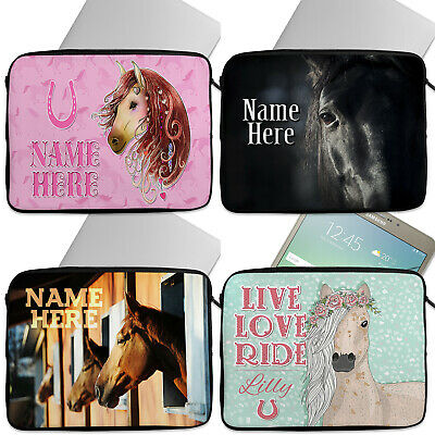 Personalised Girls HORSE Tablet Laptop Cover Sleeve Universal Case Neoprene Pony • 16.95£