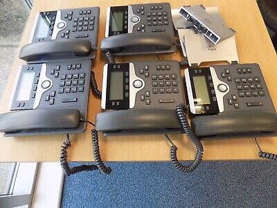 Job Lot  5 X Cisco  IP Phone - CP-7841-K9 • 160£
