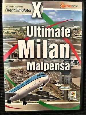 Playsims Ultimate Milan Malpensa Airports Scenery Addon For FSX • 5.99£