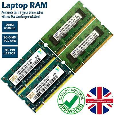 2GB 4GB 8GB Memory RAM Laptop PC2-6400 DDR2 800MHz 200 Non-ECC Unbuffered Lot • 4.20£
