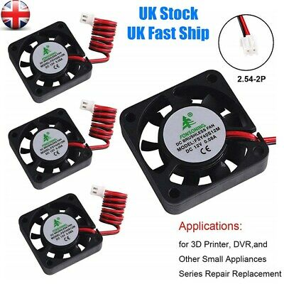 4Pcs DC 12V 40mm Cooling Cooler Fan For 3D Printer DVR CPU Computer PC Case UK • 5.98£