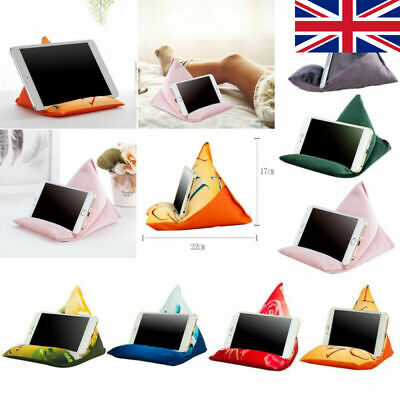 Tablet Stand Pillow Phone Holder For IPad Multi-Angle Soft Pillow Lap Stand UK • 7.29£