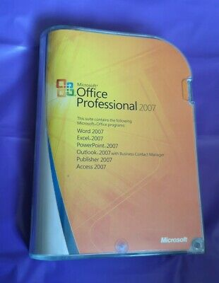 Microsoft Office Professional 2007 Full Version Genuine With Product Key • 39.99£