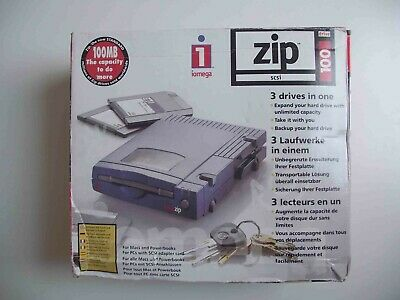 Boxed Iomega External SCSI ZIP 100 MB Drive + PSU - Use With Samplers • 89.99£