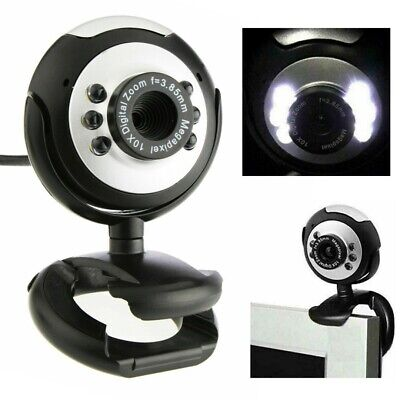 6 LED MINI USB 2.0 WEBCAM CAMERA For XP, VISTA, WINDOWS 7 10 SKYPE, COMPUTER UK • 9.49£