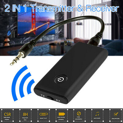 Wireless 5.0 Transmitter Receiver A2DP Audio 3.5mm Jack Aux Adapter Ns • 6.79£