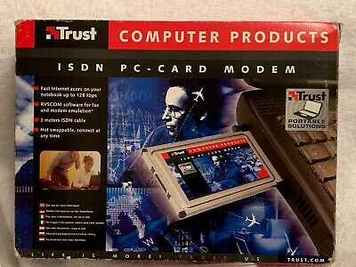 Trust Computer Products Isdn Pc Card Modem • 4.95£