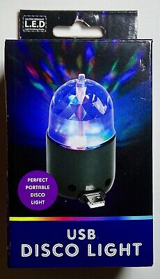 Fun USB Multicoloured Disco LED Light Brand New Sealed Novelty Gift Kid • 4£