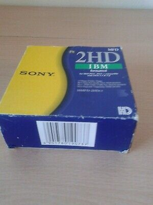 Sony 2hd Ibm Formatted 1.44mb Pack Of 10 Floppy Disks • 27.50£