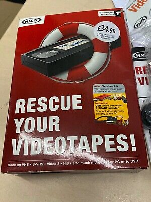 MAGIX Rescue Your Video Tapes! (VHS Video Tape Restoration)  • 37£