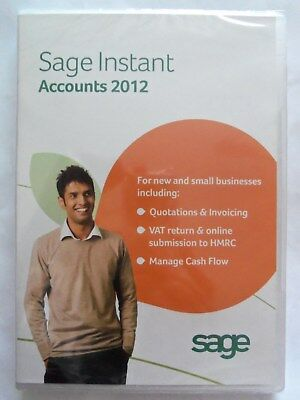 ~ Brand New And Sealed Sage Instantaccounts 2012for New & Small Businesses ~~ • 6.99£