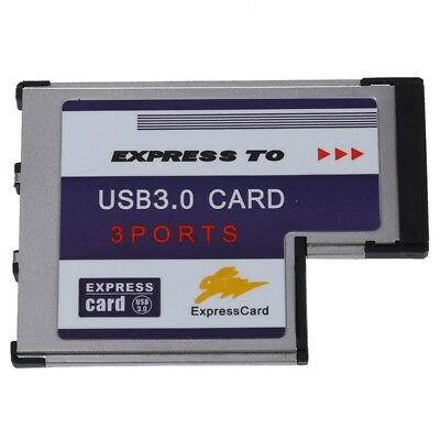 3 Port USB 3.0 Express Card 54mm PCMCIA Express Card For Laptop NEW P2Y3 • 8.67£