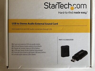 StarTech Usb To Stereo External Sound Card • 14.99£