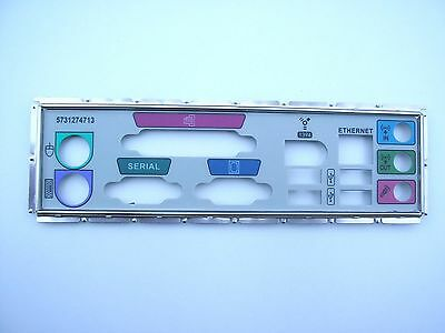 I/O Shield Back Plate With 4 USB + Rounded Firewire + Network X 20 Job Lot  • 20£