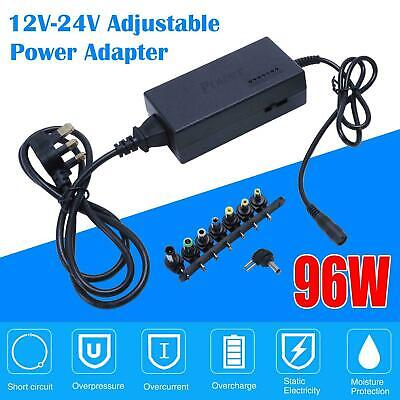 Universal 96W Laptop Power Supply Charger 12V-24V AC/DC Adapter For HP Lenovo UK • 11.81£