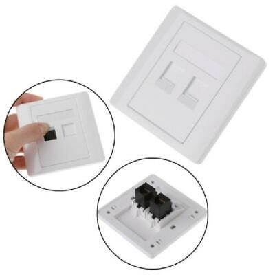 2 Ports CAT5 RJ45 Network Wall Plate With Female To Female Connector • 3.62£
