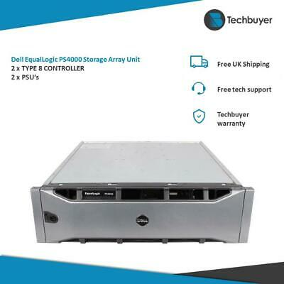 DELL EQUALLOGIC PS4000 STORAGE ARRAY UNIT 2 X TYPE8-CTRL 2 X PSU • 100£