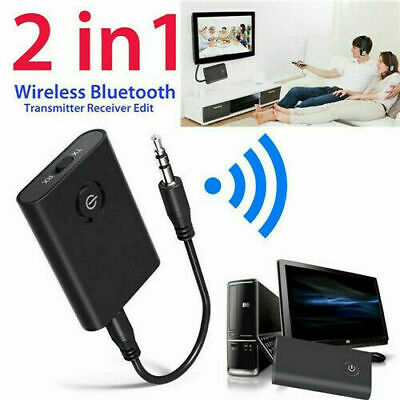 3.5mm Wireless Bluetooth 5.0 Transmitter Receiver A2DP Audio Jack Aux Adapter UK • 6.49£